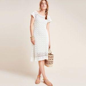 Anthropologie Brittania crochet midi dress